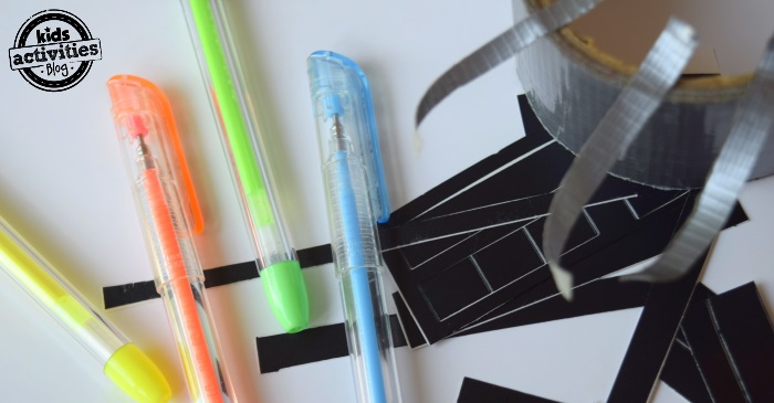 gell pen lightsabers