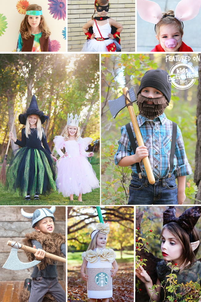 40 easy homemade costumes for kids for Simple halloween costumes for kids