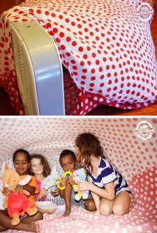 She Takes A Sheet and a Fan and Entertains Her Kids for Hours!