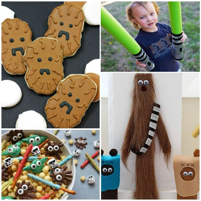 Star Wars crafts and recipes with cookies, puppets, and lightsabers