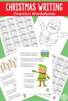 Christmas Writing Practice Worksheets