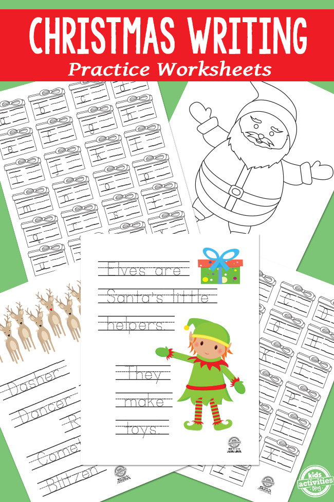 math worksheet : christmas writing practice worksheets  : Christmas Phonics Worksheets Kindergarten