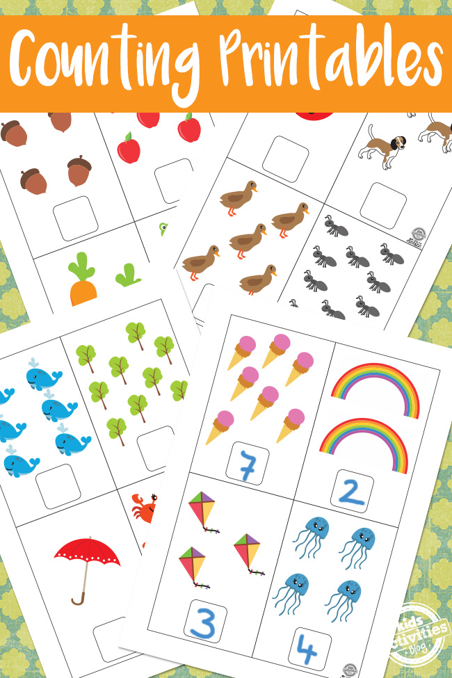 Monster image pertaining to printable counting worksheets