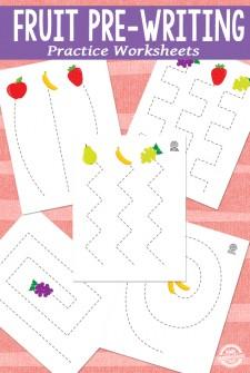 Fruit Pre-Writing Practice