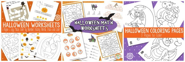 Halloween printables in library