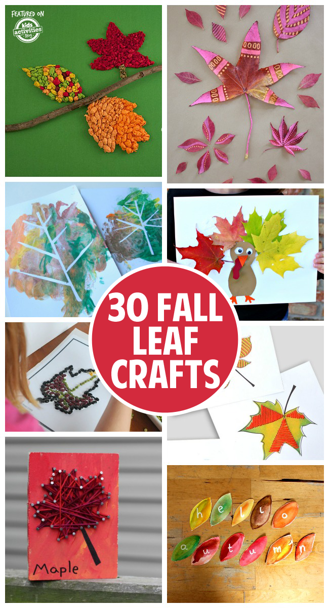 30 Fun and Festive Fall Leaf Crafts
