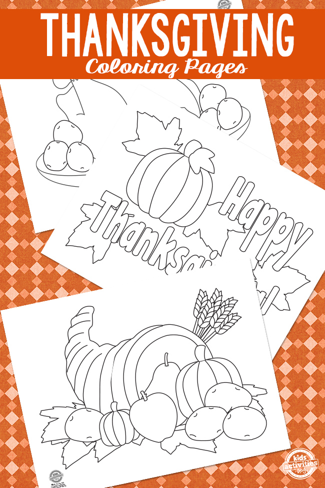 kaboose coloring pages thanksgiving crafts - photo #37