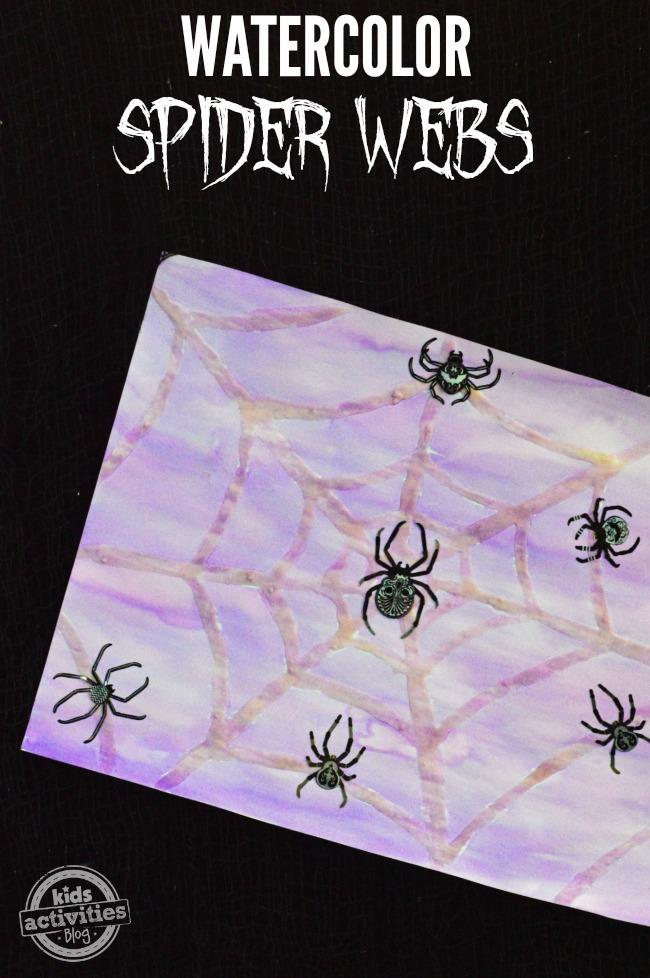 WATERCOLOR SPIDER WEBS