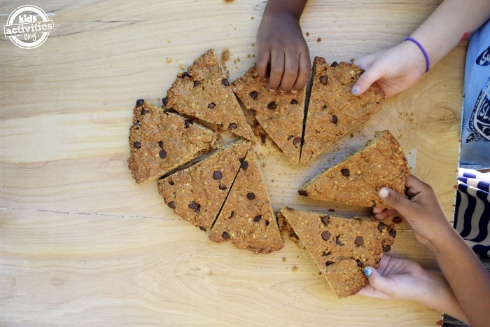 cookie being eatten by kids