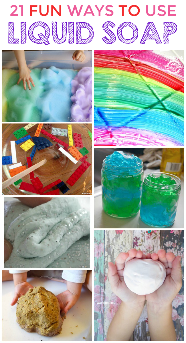 20 super cool things to make with liquid soap for Cool things to make and do