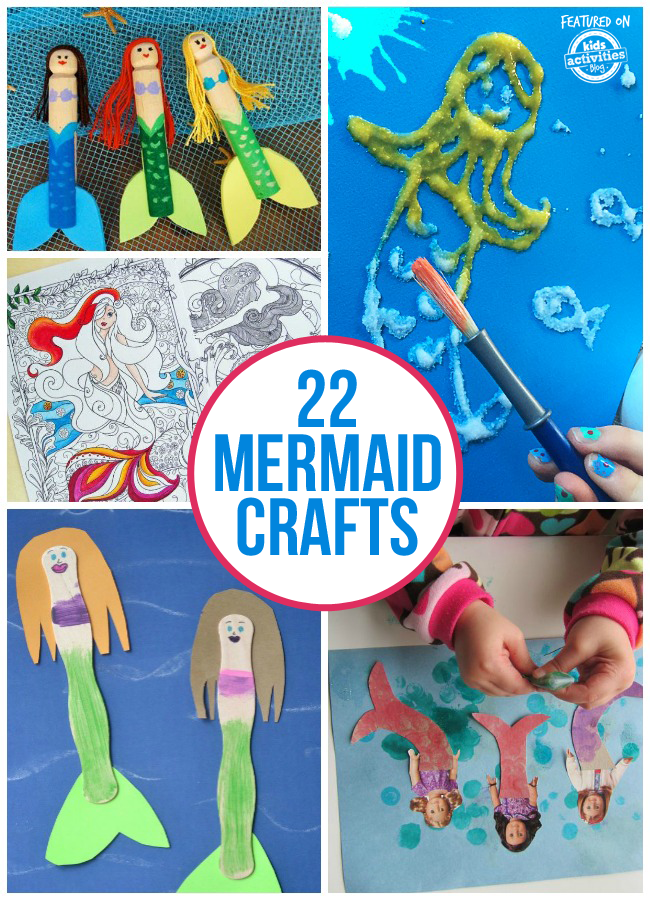 22 adorable mermaid crafts for kids for Mermaid arts and crafts