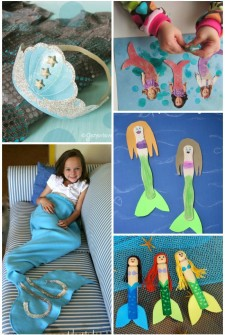 22 Adorable Mermaid Crafts for Kids