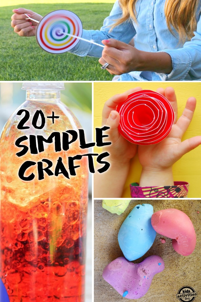 easy kids crafts ideas 20 simple crafts can make with only 2 3 supplies 4366