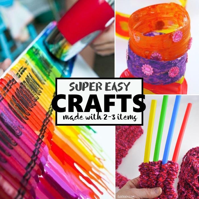 super easy crafts