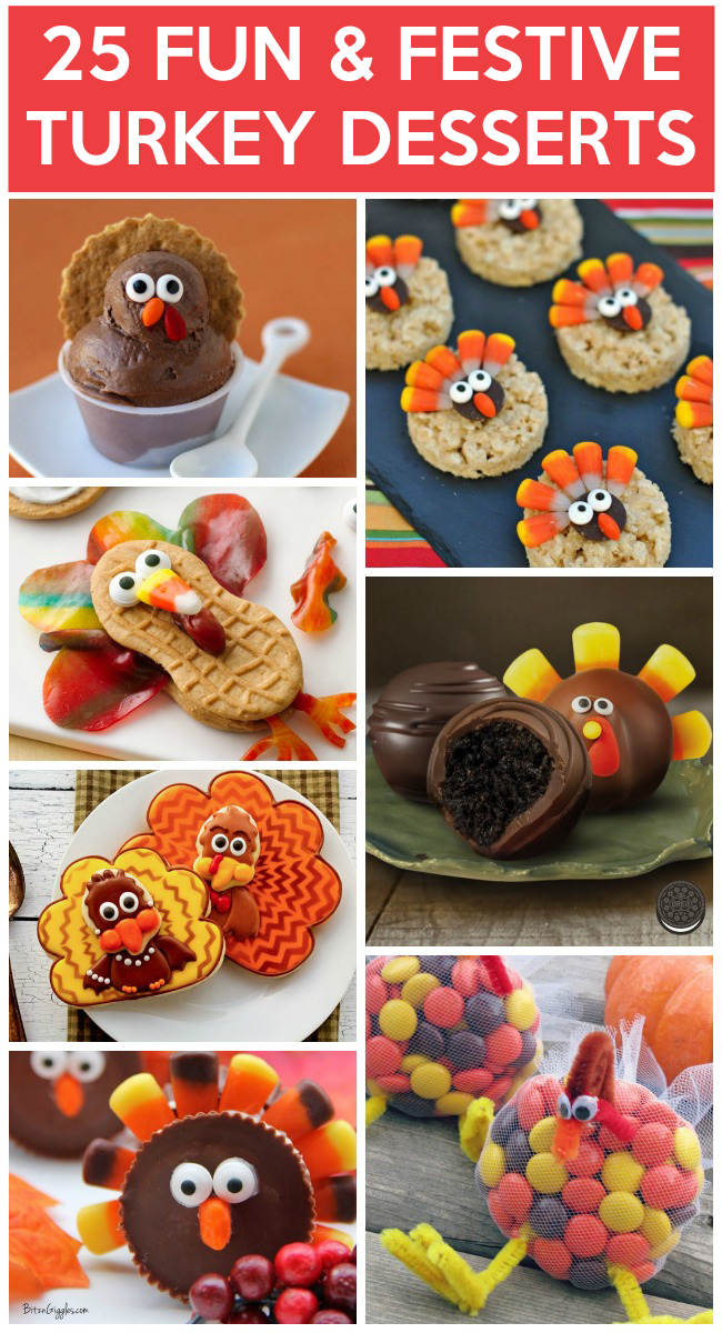 Yummy turkey desserts to make kids activities for Fun and easy thanksgiving dessert recipes