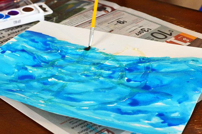 watercolor spider webs inprocess3