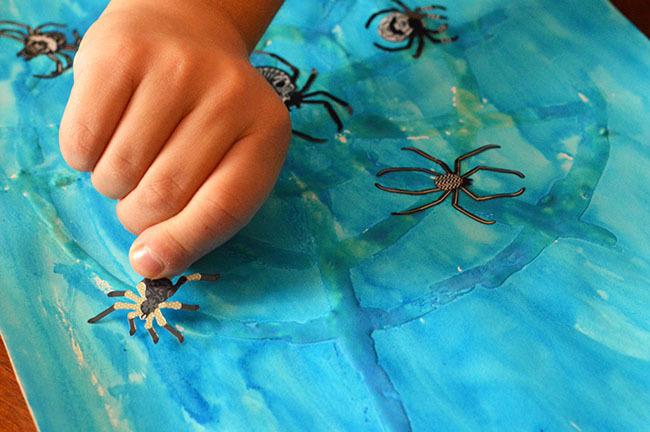 watercolor spider webs inprocess4