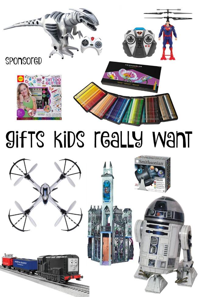 Cadeaux que les enfants veulent vraiment