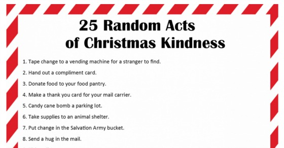 25 Random Acts Of Christmas Kindness