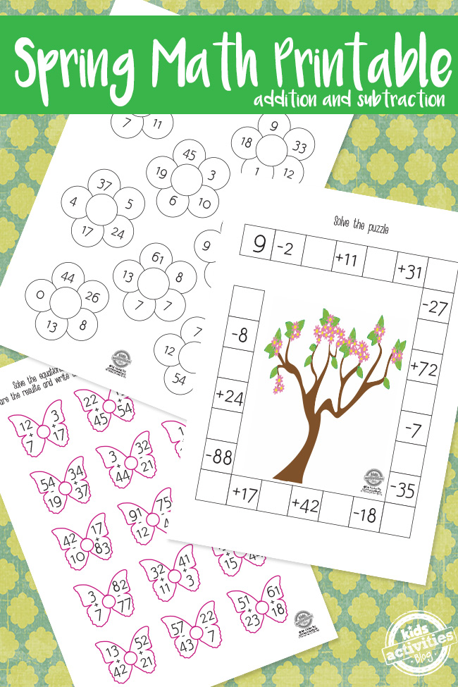 Spring Math Pack