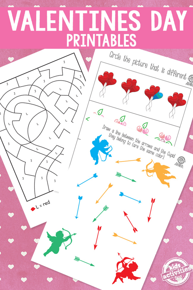 It's just an image of Exhilarating Free Printable Valentine Worksheets