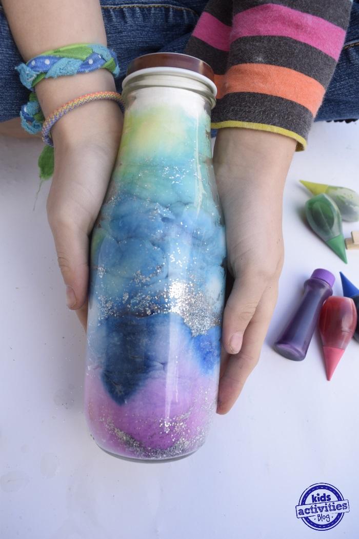 Diy Galaxy Jar Sensory Bottle