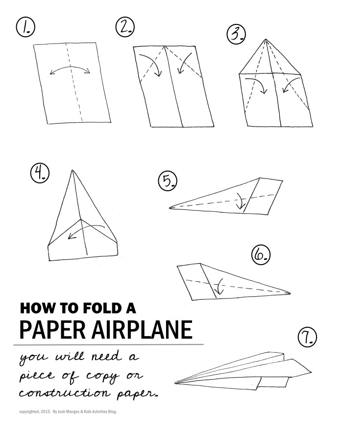 how to fold a paper airplane small