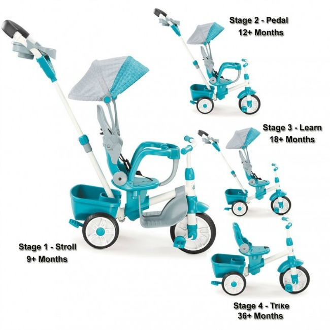 little tikes 4-in-1 trike different stages