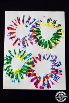 Fireworks Art for Kids