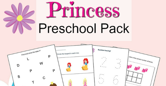Princess Preschool Printable Worksheet