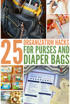 Organization Hacks for Purses and Diaper Bags