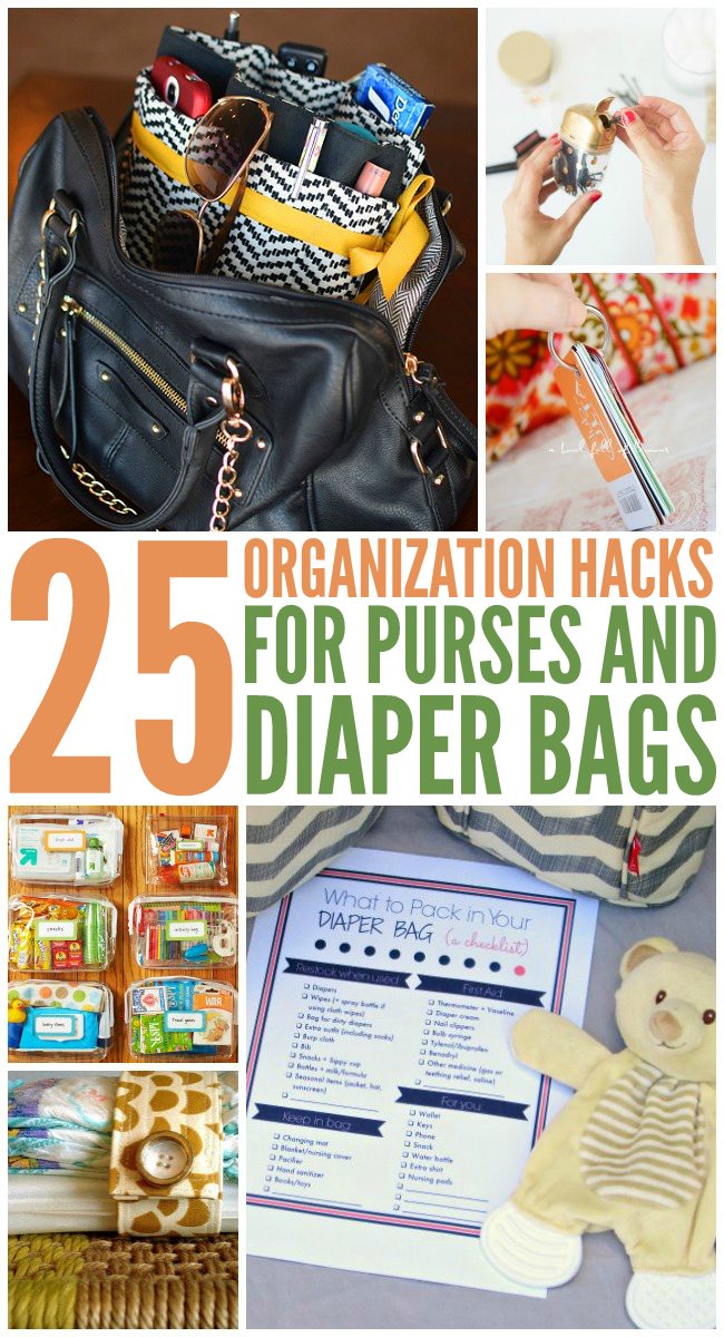 182dd48c2d2 25 Organization Hacks for Purses and Diaper Bags