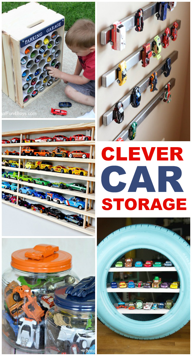 extra garage ideas - 15 Clever Toy Car Storage Ideas