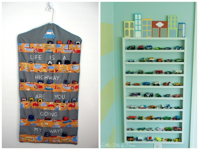 Toy Cars Holder Shelf : Clever toy car storage ideas