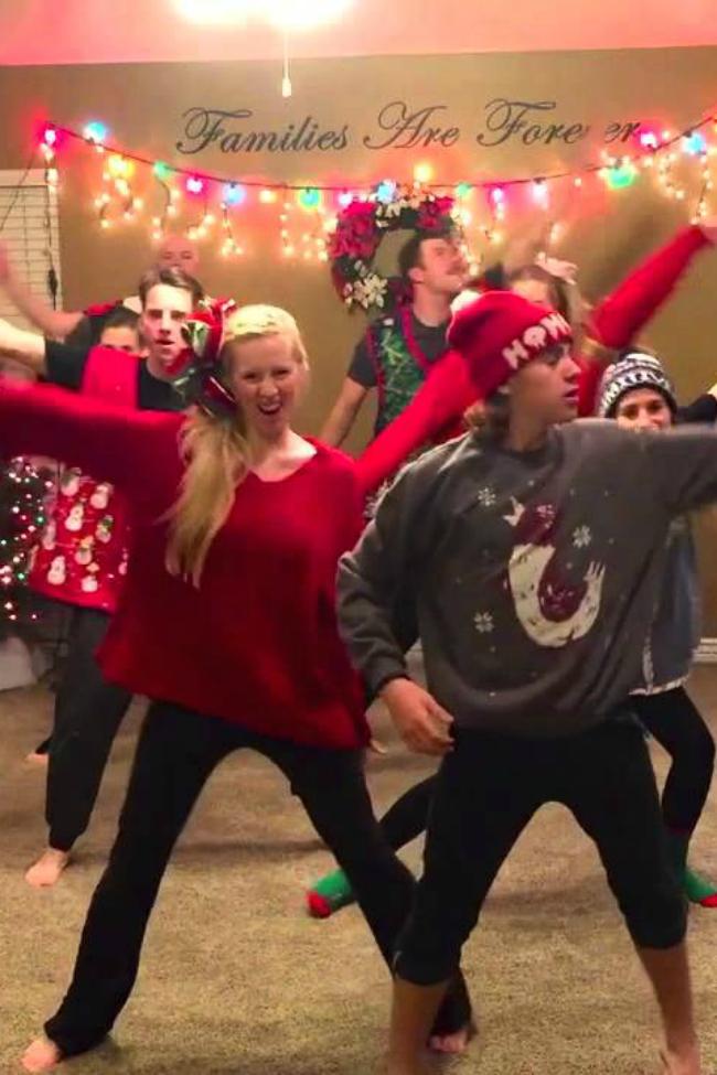 family Christmas dance