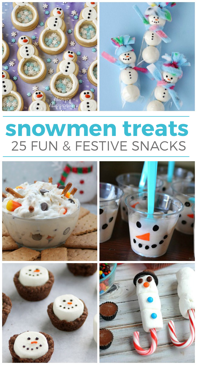 25 Yummy Snowmen Treats and Snacks