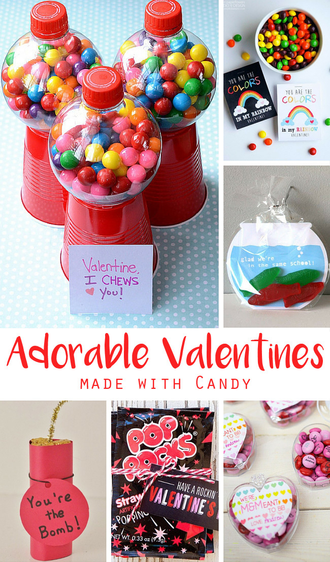 Kids Candy Valentines for School