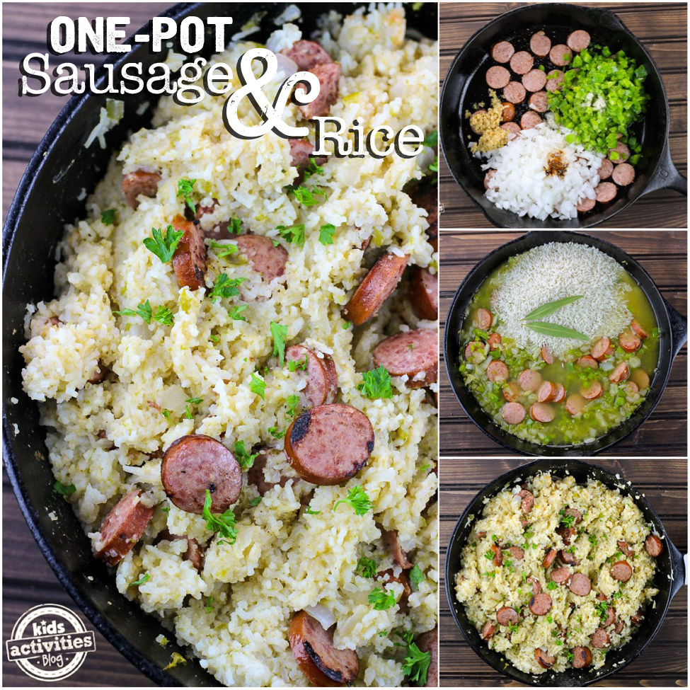 Easy One Pot Sausage and Rice