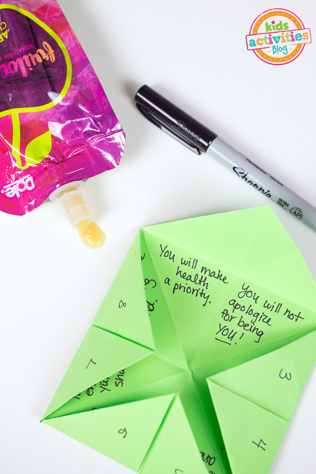 Advice For My Teen Self With An Origami Fortune Teller