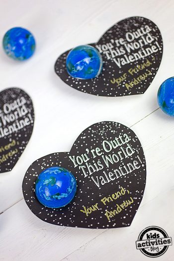 Printable Space Valentines Cards Featured