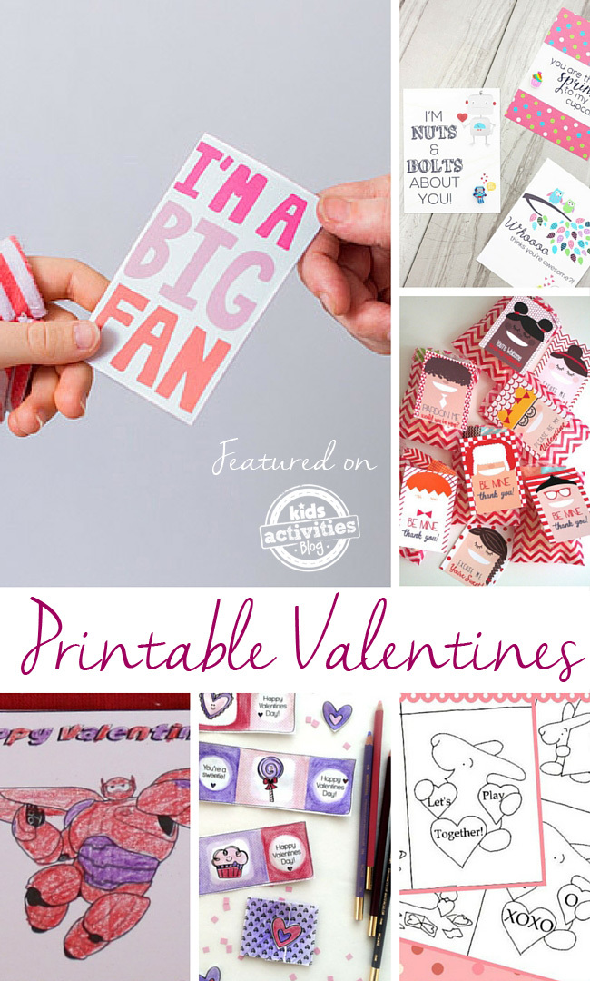 Printable Valentines for School