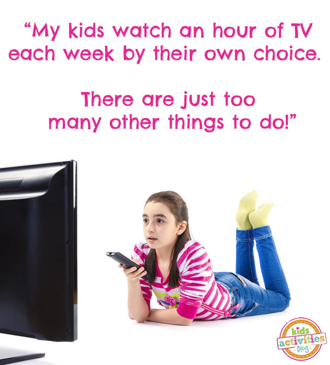 My Kids Watch An Hour of TV a Week