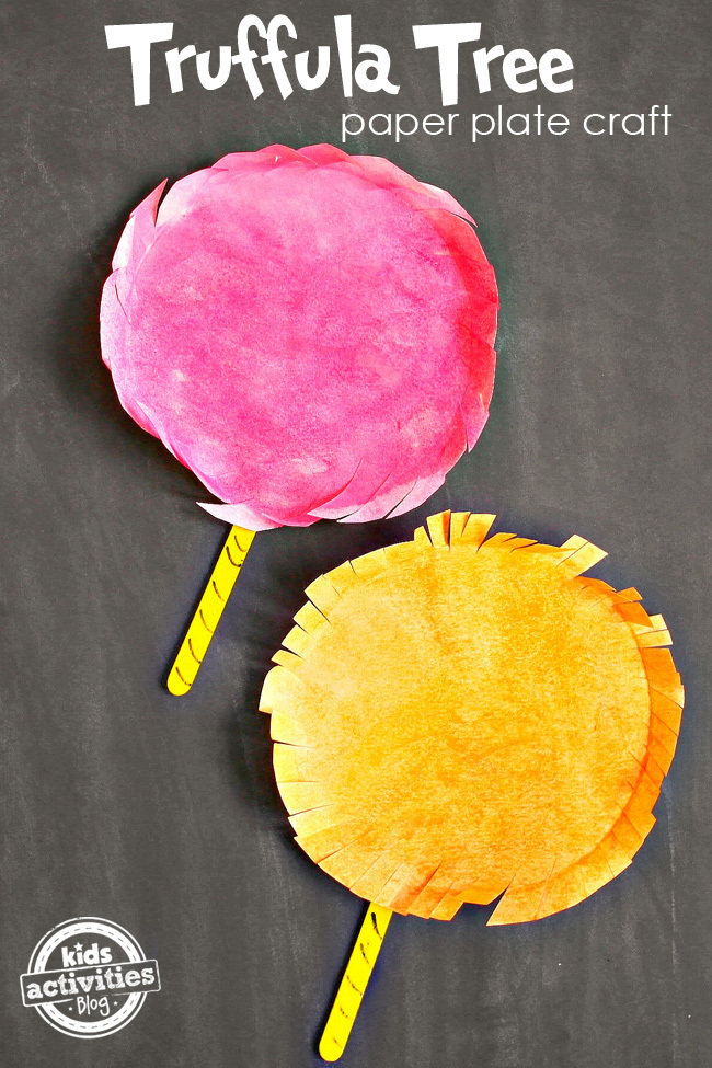 Truffula Tree Paper Plate Craft