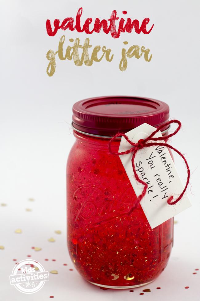 Valentine Glitter Sensory Bottle