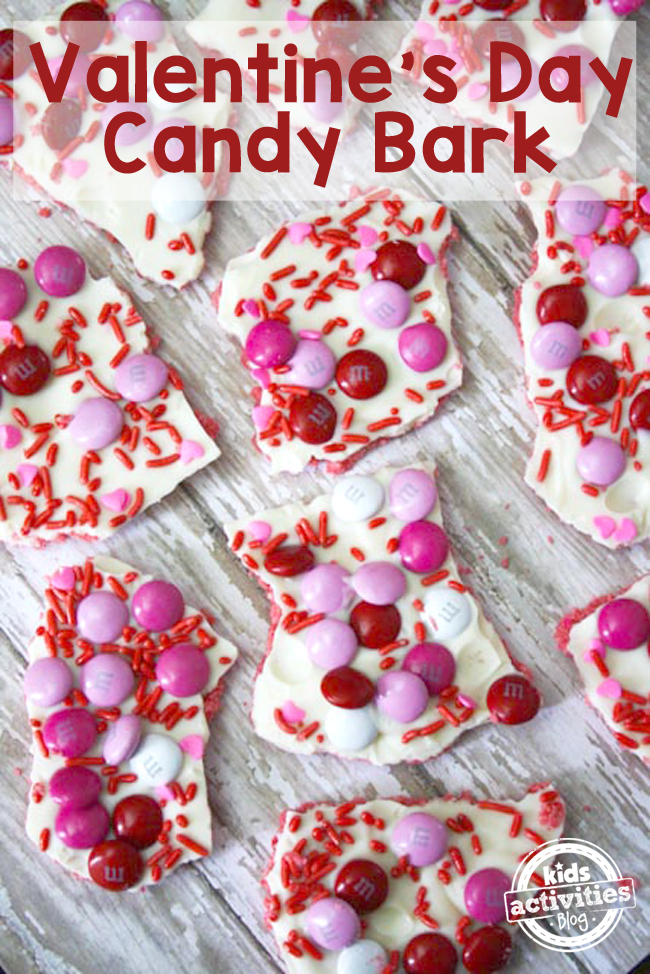 Valentine's Day Candy Bark Recipe