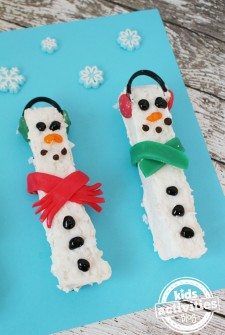 White Chocolate Rice Krispies Snowmen