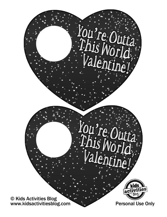Printable Valentine - Space