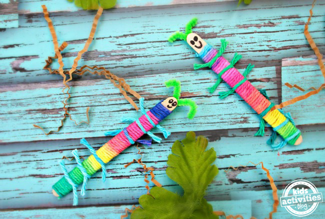Craft Stick Caterpillars
