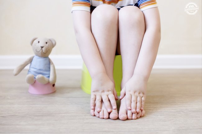 My child will pee, but not poop on the potty
