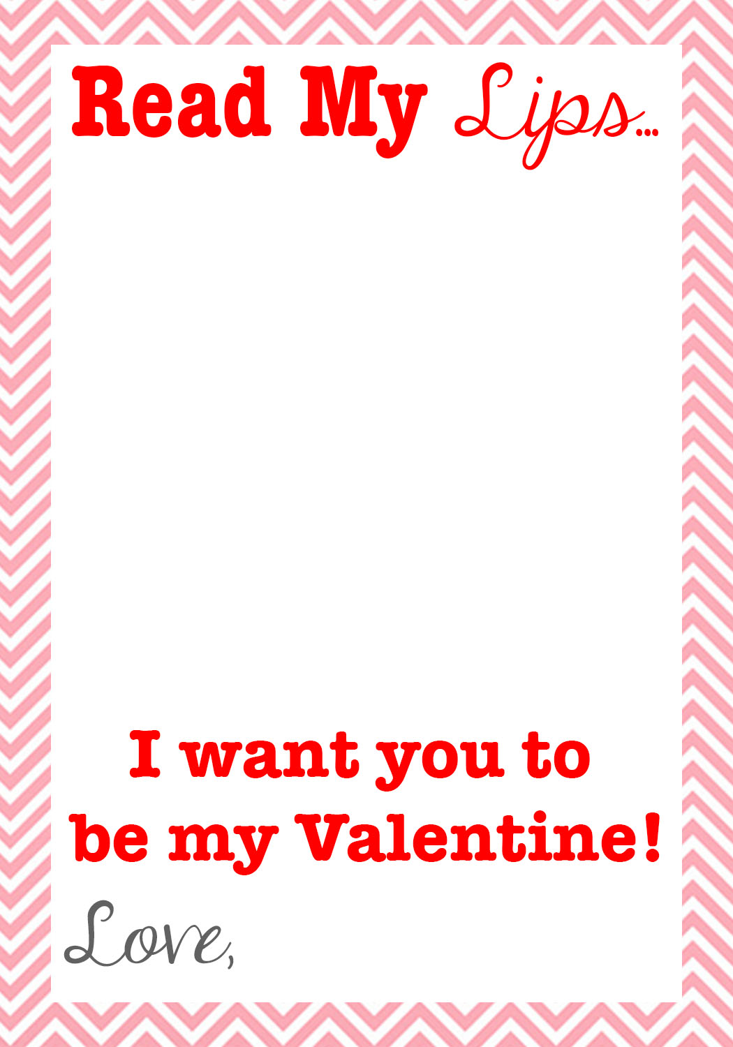 graphic about Printable Lips identified as Go through My Lips Valentine + Free of charge Printable